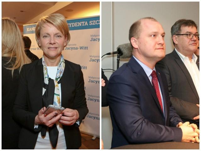 Małgorzata Jacyna-Witt oraz Piotr Krzystek zmierzą się 30 listopada w II turze wyborów prezydenckich w Szczecinie