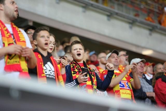 W starciu z Rakowem Jagiellonię z trybun stadionu przy ul. Słonecznej wspierało dopingiem ponad 7,5 tysiąca kibiców