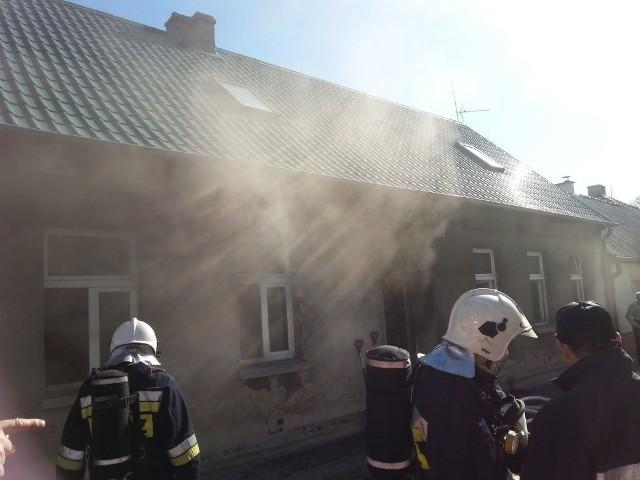 Pożar w Więcborku.