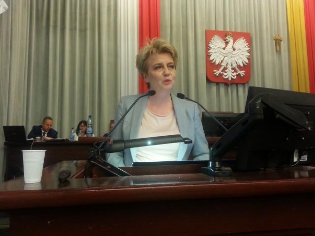 Prezydent Hanna Zdanowska zaskoczyła radnych, przychodząc na salę obrad przed głosowaniem nad udzieleniem jej absolutorium.
