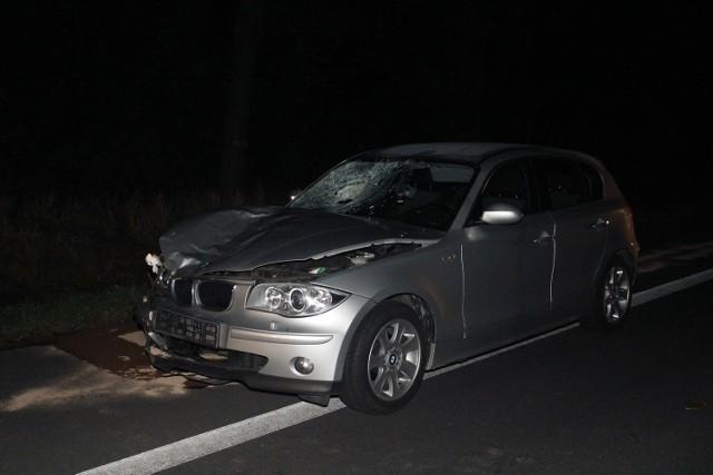 Rowerzysta został śmiertelnie potrącony przez bmw na krajowej 14 w Chechle Pierwszym pod Pabianicami