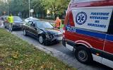 Wypadek mercedesa i hondy na ul. Kamiennej we Wrocławiu. Jedna osoba została ranna [ZDJĘCIA]