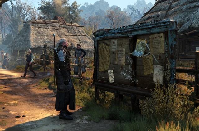 Wiedźmin 3: Dziki GonWiedźmin Geralt z zainteresowaniem przeczytał ogłoszenie o poszukiwaniu stażystów
