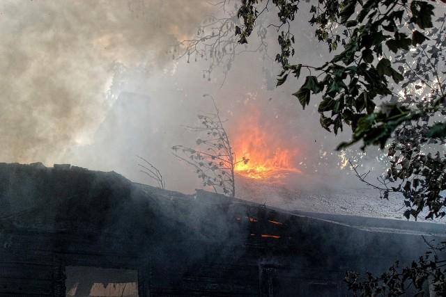 Pożar na Wilanowskiej w Łodzi