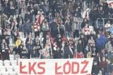 Kibice na meczu ŁKS - Zagłębie Sosnowiec. Zobacz doping kibiców na stadionie przy al. Unii