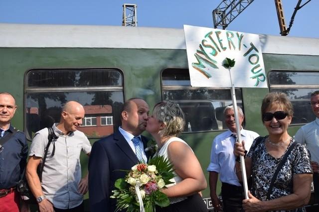 Kilkuset niemieckich turystów przyjechało specjalnym pociągiem do Zielonej Góry, by świętować Winobranie.