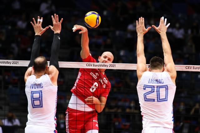 Serbia - Polska w Tauron Arenie Kraków. Bartosz Kurek był wyróżniającym się zawodnikiem meczu