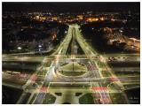 Niesamowity widok na rondo Kujawskie w Bydgoszczy z lotu ptaka [zdjęcia]