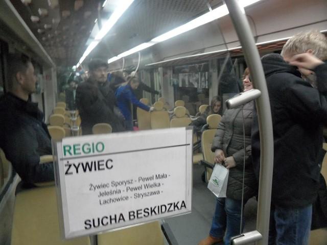Ostatni pociąg na trasie Żywiec - Sucha Beskidzka