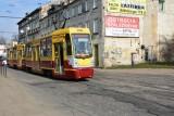 Doraźna naprawa torów na skrzyżowaniu ul. Kilińskiego i Przybyszewskiego przed gruntowną modernizacją