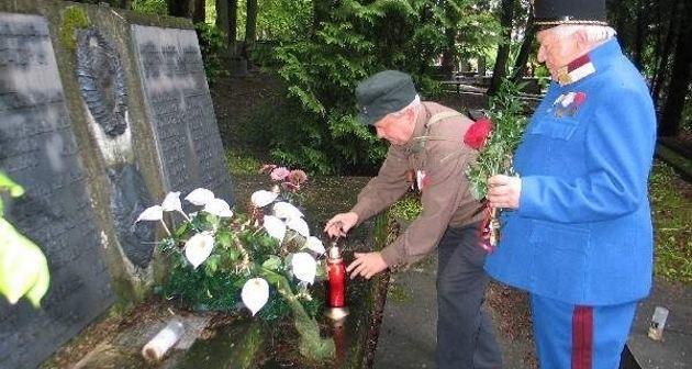 Na cmentarzu wojskowym w Przemyślu znajduje się symboliczna mogiła żołnierzy Armii Czerwonej.