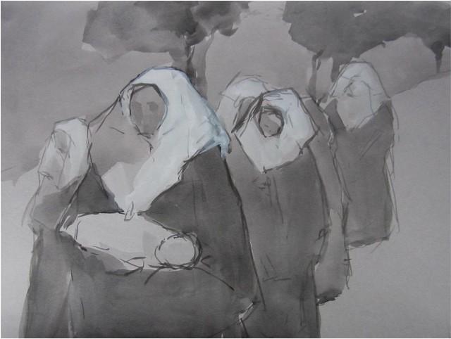 """Obraz """"W drodze"""" Magdaleny Chomiak z wystawy otwieranej jutro w Centrum Kultury """"Dwór Artusa"""""""