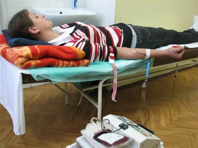 Teresa Tańska pierwszy raz oddawała krew