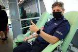 Policjanci oddawali krew. Udało się zebrać 5,3 litra krwi ZDJĘCIA