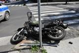 Śmiertelny wypadek motocyklisty i pożar w powiecie brodnickim - tak mija weekend