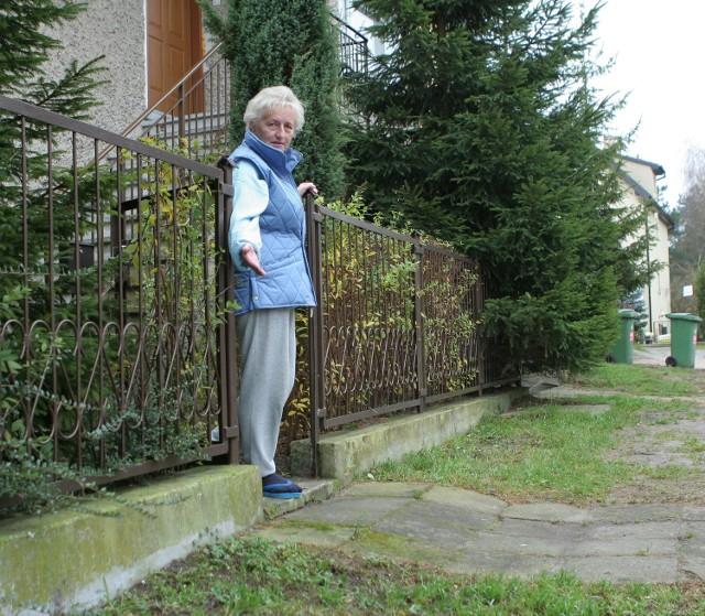 Przed domem pani Lidii psy zrobiły sobie toaletę. - Inni mają chodniki, a u mnie trawa przyciąga psy - mówi kobieta.