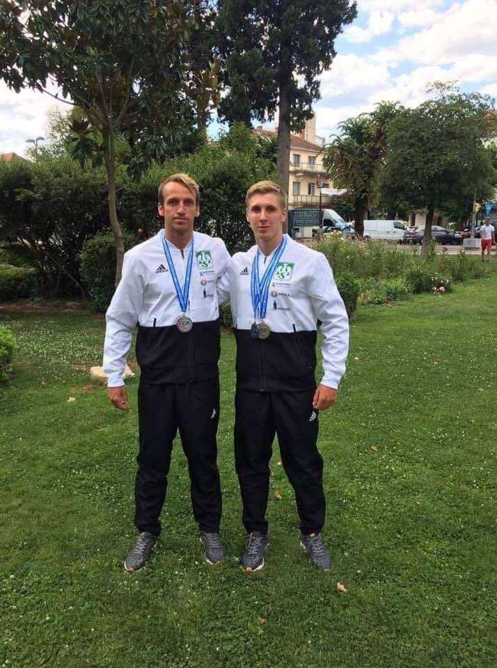 75878129d Mateusz Zuchora (z lewej) i Mateusz Borgieł znów godnie reprezentowali AZS  Politechnikę Opolską.