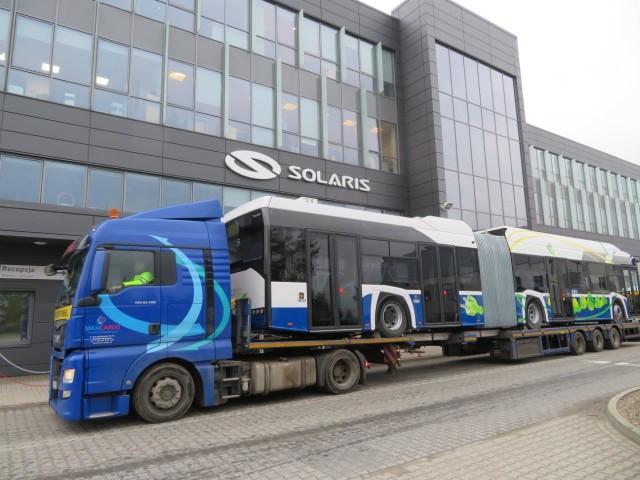 Nowe autobusy Solarisa w drodze do Krakowa