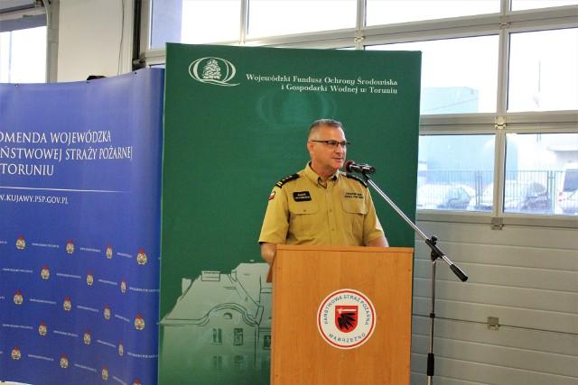 Uroczystość przekazania voucherów dla OSP zorganizowano w Wąbrzeźnie