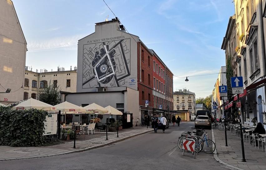 Nowy mural na placu Nowym na Kazimierzu
