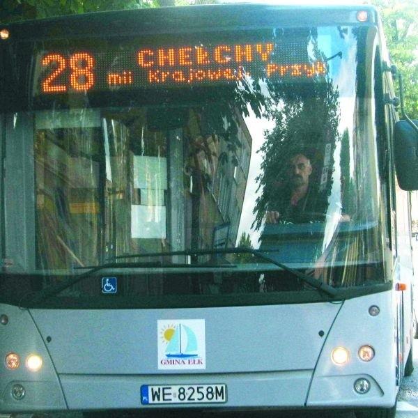 Autobusy Warbusa (na zdjęciu) obsługują 85 proc. transportu na terenie gminy. Domeną MZK jest Ełk, ale linie nr  2, 3 i 4 jeżdżą też po gminie.
