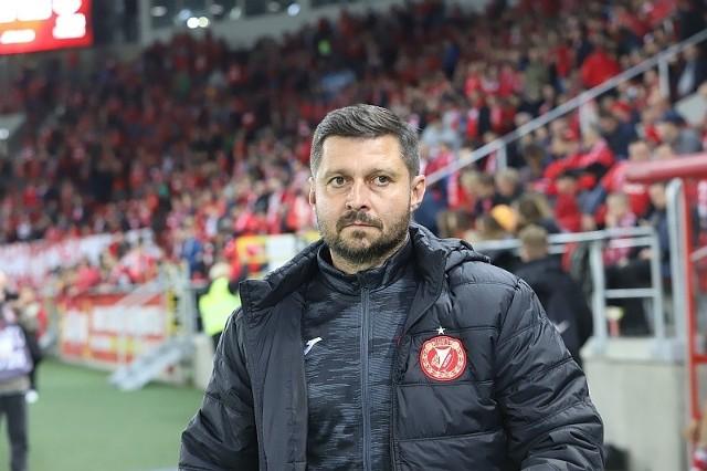 Trener łodzian Marcin Kaczmarek