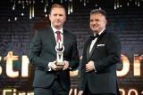 Józef Dąbek, prezes Kopalni Morawica, SPS Construction z Kielc i Hotel Słoneczny Zdrój z Buska z nagrodą VIP-a 2019