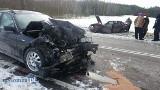 Podgórze. Wypadek na trasie Łomża - Zambrów częściowo zablokował DK63 (zdjęcia)