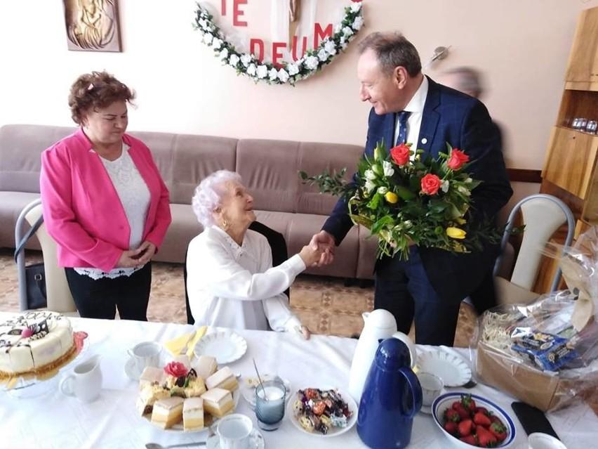 Zofia Niezgoda - stulatka z gminy Olesno.