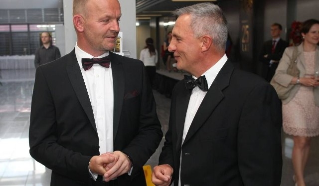 Grzegorz Fibakiewicz z Krzysztofem Klickim podczas uroczystości 25-lecia istnienia Kolportera.