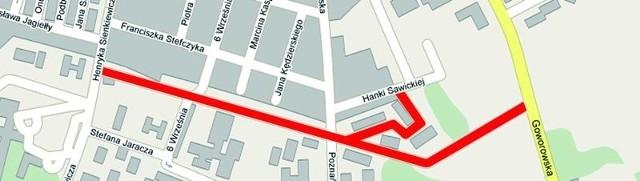 Tak wyglądać będzie na planie miasta ulica Korczaka