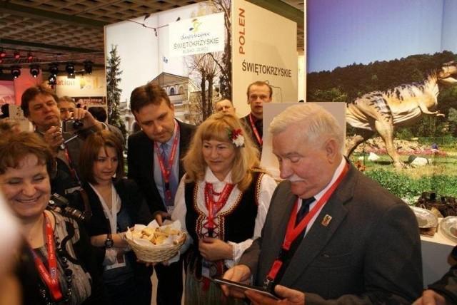 Świętokrzyskie stoisko odwiedził między innymi Lech Wałęsa.