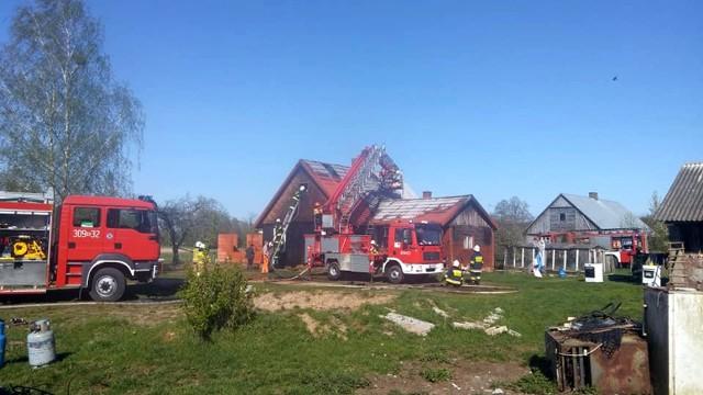 Pożar domu w Kiermusach
