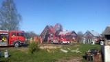 Kiermusy: Pożar domu. Z ogniem walczyło 10 zastępów strażaków (zdjęcia)