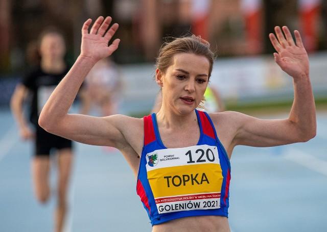 22-letnia Beata Topka była bardzo zmęczona, ale zadowolona ze swojego wyczynu biegowego, bo dała z siebie maksimum wysiłku