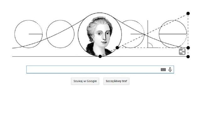 Maria Gaetana Agnesi - google doodle z okazji 296. rocznicy urodzin