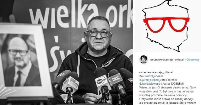 Gwiazdy, dziennikarze i politycy stoją #MuremZaOwsiakiem