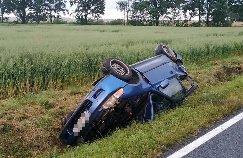 Wypadek na DK 45 między Jasieniem a Kuniowem.