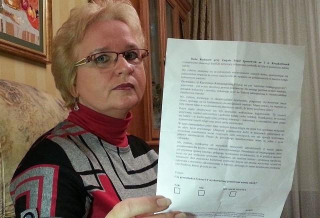 Grażyna Juszczyk twierdzi, że była wielokrotnie obrażana i poniżana z powodu swoich poglądów. Zdjęcie archiwalne.