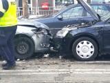 Wypadek na Traugutta. Na torowisku zderzyły się trzy samochody