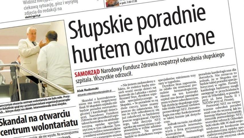 """W sobotę w """"Głosie"""": Słupskie poradnie hurtem odrzucone."""