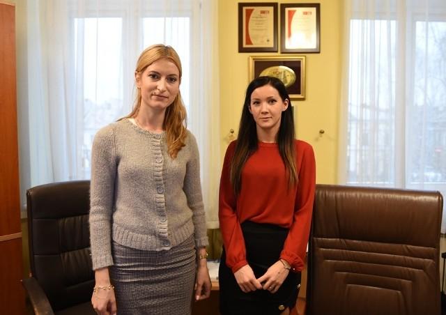 Agnieszka Łobodzińska-Obrzut i Katarzyna Nurek