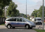 Skrzyżowanie Raginisa - Stepowa. Wypadek rowerzystki