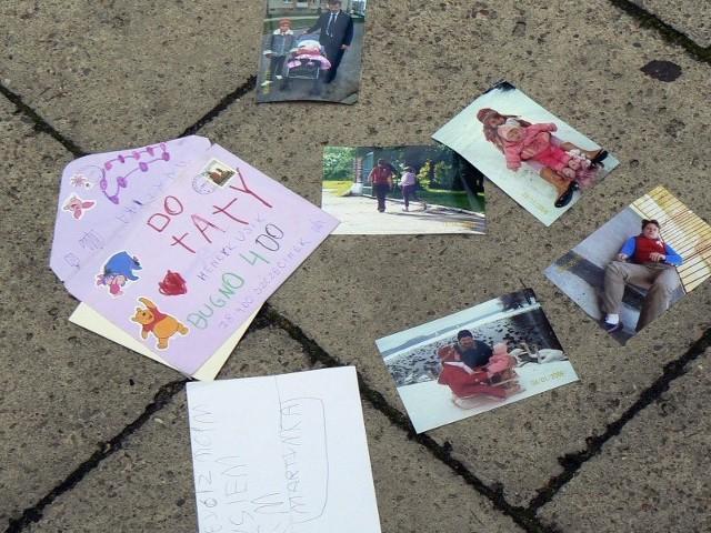 Protest ojcówPrzed sądem w Szczecinku w obronie swoich praw protestowali ojcowie.