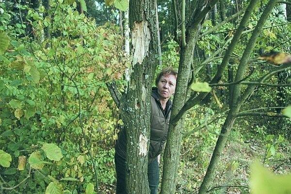 Do tragedii doszło w zagajniku nie opodal wsi Krugłe. Miesiąc po zdarzeniu na drzewach widniały ślady po strzałach. Pokazała nam je żona poszkodowanego.