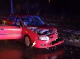 Przasnysz. Wypadek na ul. Żwirki i Wigury. Dwie osoby trafiły do szpitala. 23.02.2020 [ZDJĘCIA]