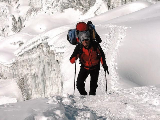 Marcin Dudek z Rzeszowa jest pierwszym Polakiem, który wspiął się na Mount Baruntse w Himalajach