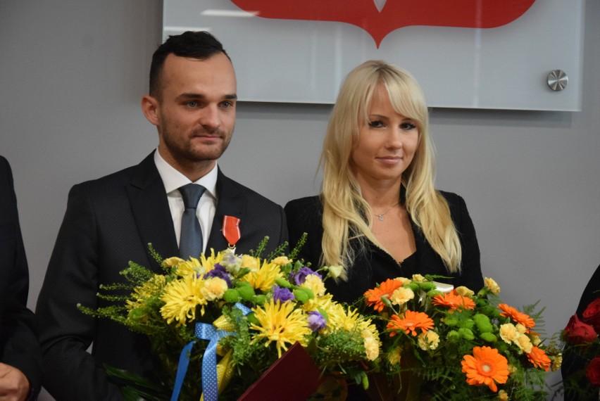 Bartosz Zmarzlik i Sandra Grochowska