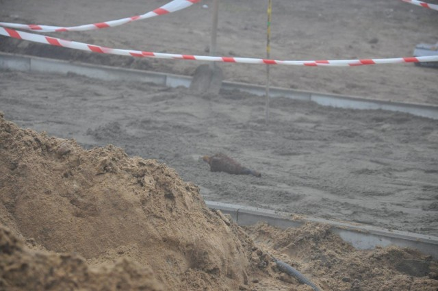 Ten niewybuch odkryto podczas prac budowlanych w Sławie