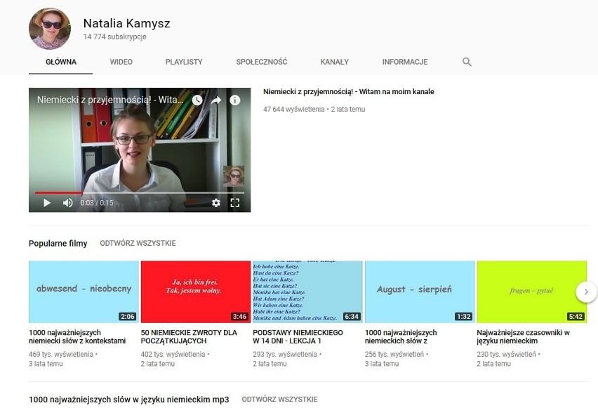 """Natalia Kamysz i jej kanał """"Niemiecki z przyjemnością""""..."""